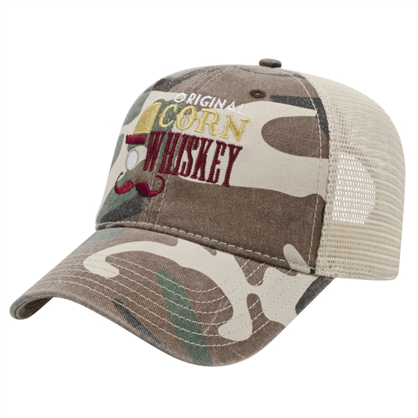 Woodland Camo with Soft Mesh Back Cap