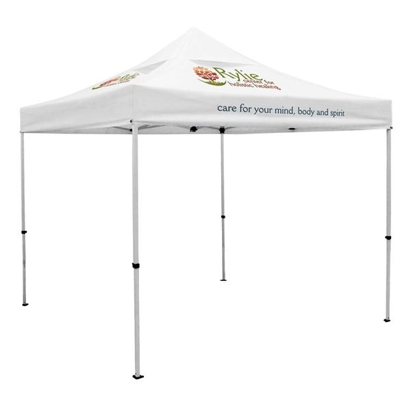 Premium 10' Tent, Vented Canopy (Imprinted, 3 Locations)