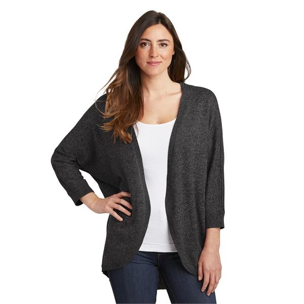 Port Authority Ladies Marled Cocoon Sweater.