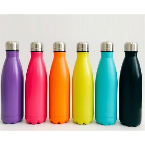 17 Oz Stainless Steel Sports Bottle