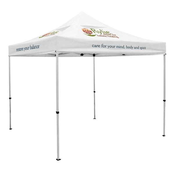 Premium 10' Tent, Vented Canopy (Imprinted, 4 Locations)