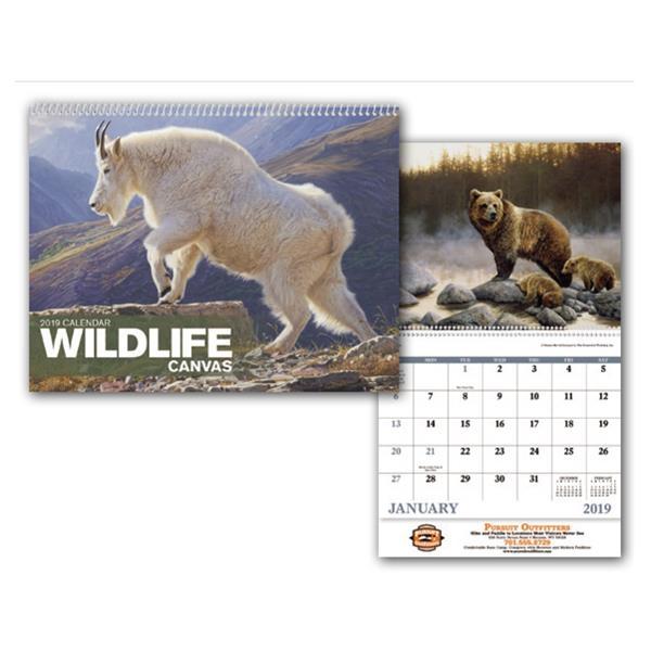 Wildlife Canvas - Appointment Calendar - Stapled