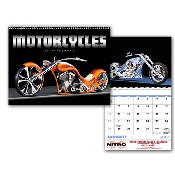 Motorcycles - Appointment Calendar - Stapled
