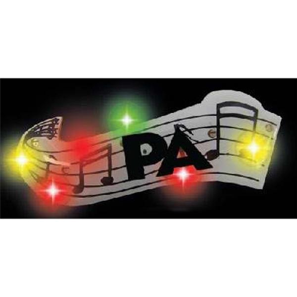 Music Score Stock Shape Flashing LED Light Up Glow Button