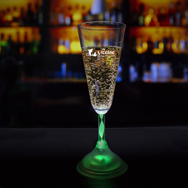 7 1/2 oz. Champagne Glass with Multi-Color LED Lights