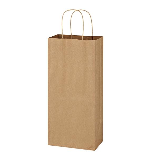 Kraft Paper Brown Wine Bag - 5.25