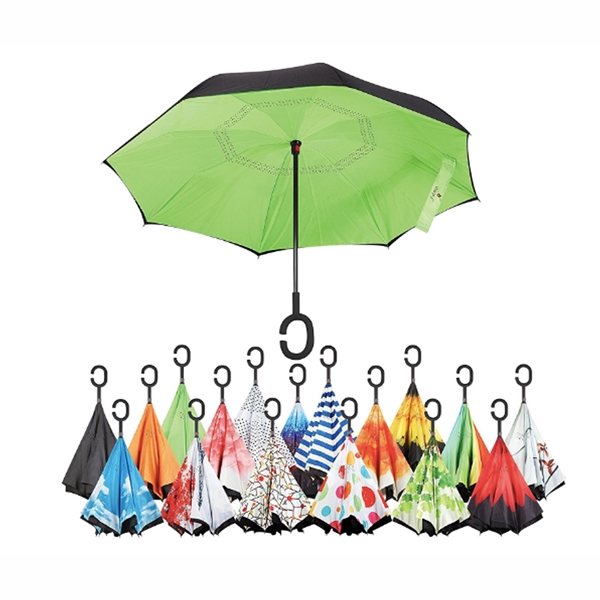 Upside Down Umbrella With C-Shaped Handle
