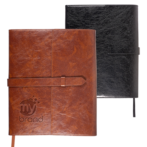 Sorrento™ Refillable Journal with Business Card Organizer
