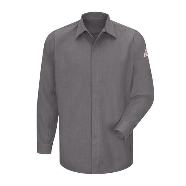 Bulwark Concealed-Gripper Pocketless Long Sleeve Shirt - ...