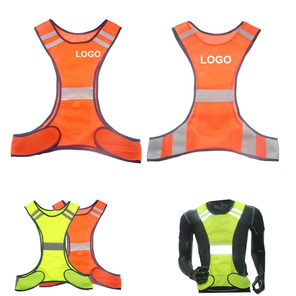 Night running and cycling reflective vest