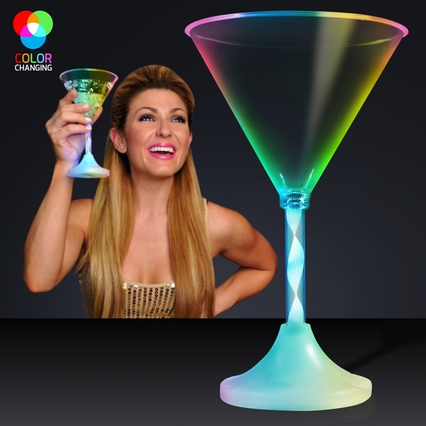 Spiral stem cocktail glass - martini