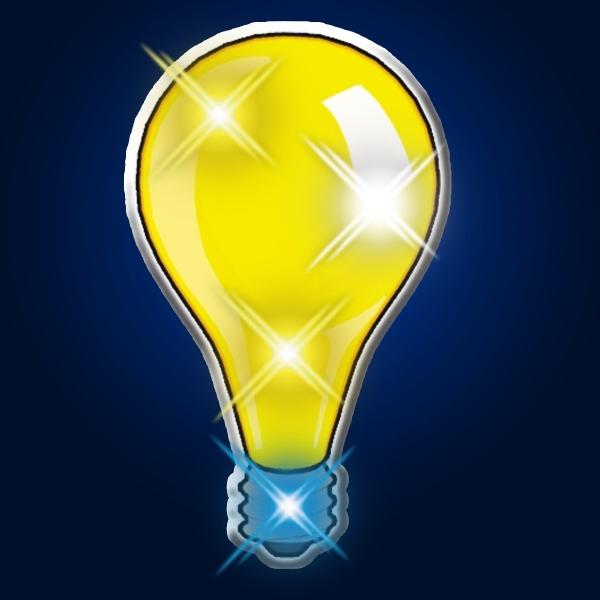 Light Bulb Blinky Pins