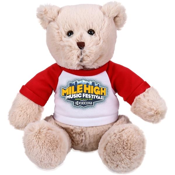 The Charming Beige Bear in Raglan, A Fuzzy Stock Teddy Bear