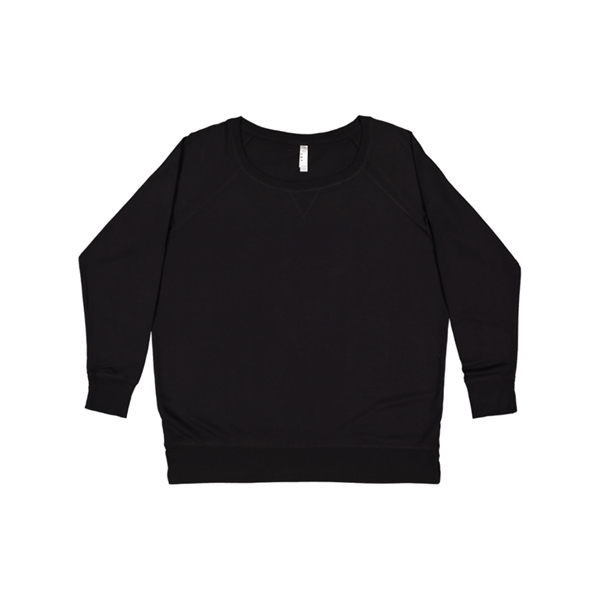 LAT Apparel Ladies Curvy French Terry Pullover