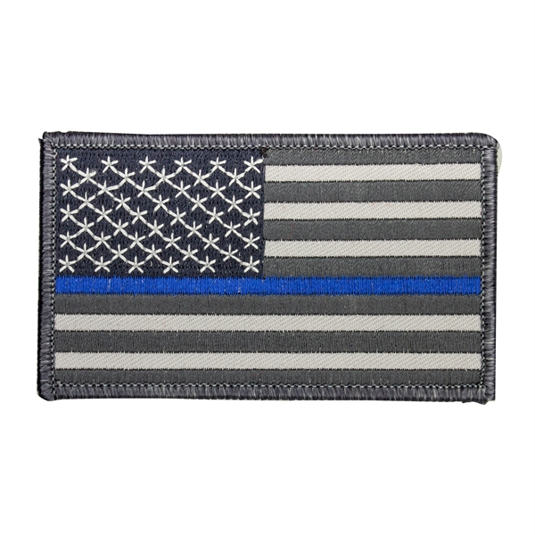 Thin Blue Line Police U.S. American Flag Patch