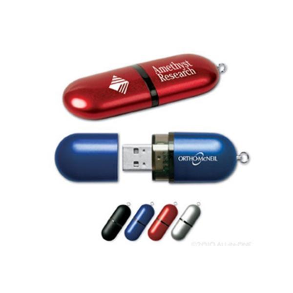 Cap USB Flash Drive w/ Key Ring