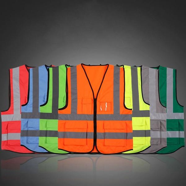 Safey Reflective Vest With Pockets