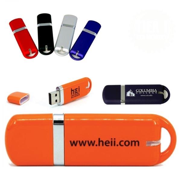 Glacier Plastic USB Flash Drives w/ Cust