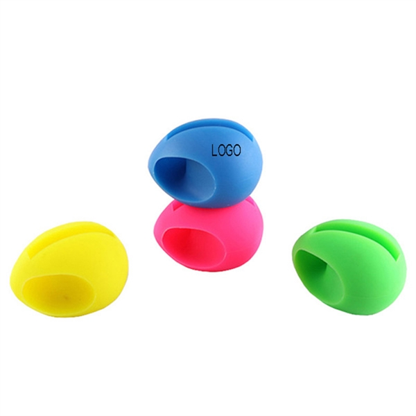 Silicone Egg Shape Phone Stand Speaker
