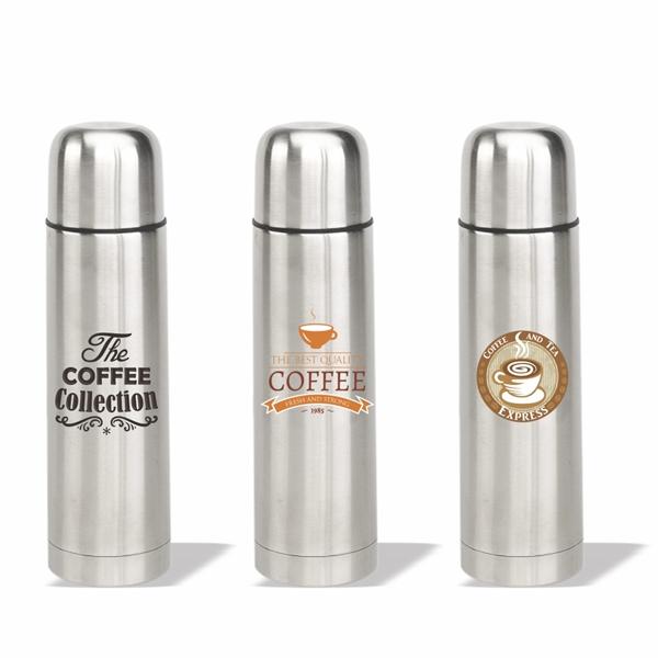 17 oz. Stainless Steel Vacuum Flask, Personalised Flask