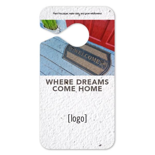 Seed Paper Door Hanger - Real Estate