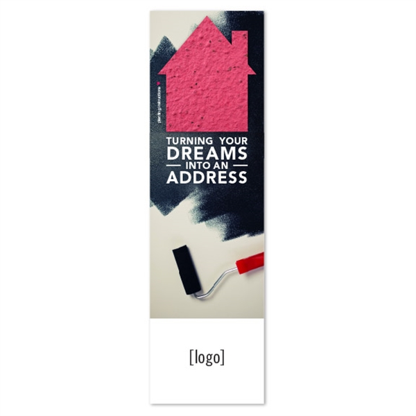 Real Estate Seed Paper Shape Bookmark