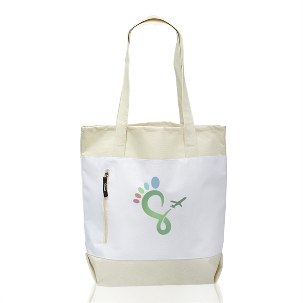 Seaside Tote Bags with Front Zipper
