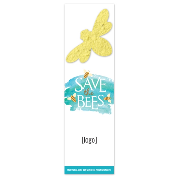 Save The Bees Seed Paper Shape Bookmark