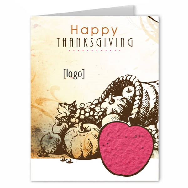 Thanksgiving Seed Paper Shape Greeting Card