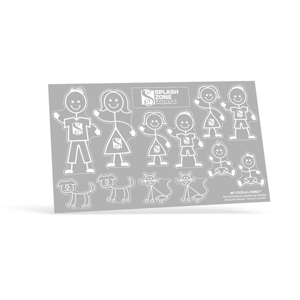 My Stickable Family Decals w/ Sport Equipment