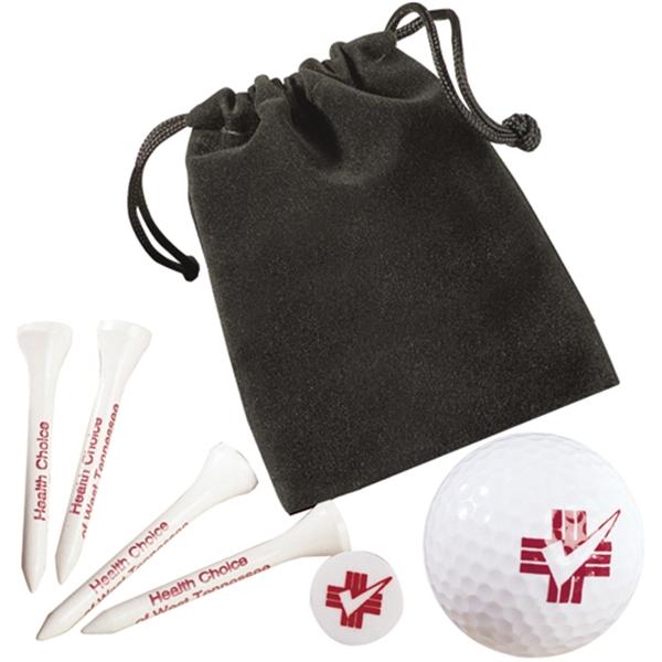 Golf Gift Set In Velour Bag