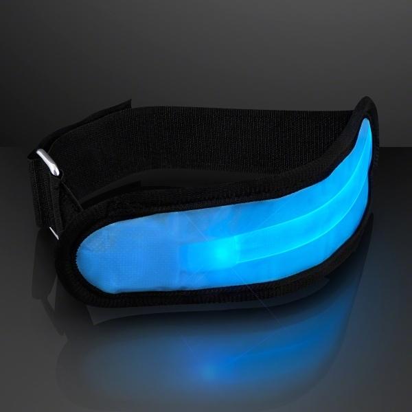 Light up blue LED armband for night safety