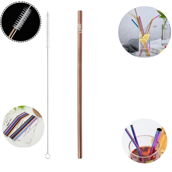 Reusable Stainless Steel Straw With Cleaner