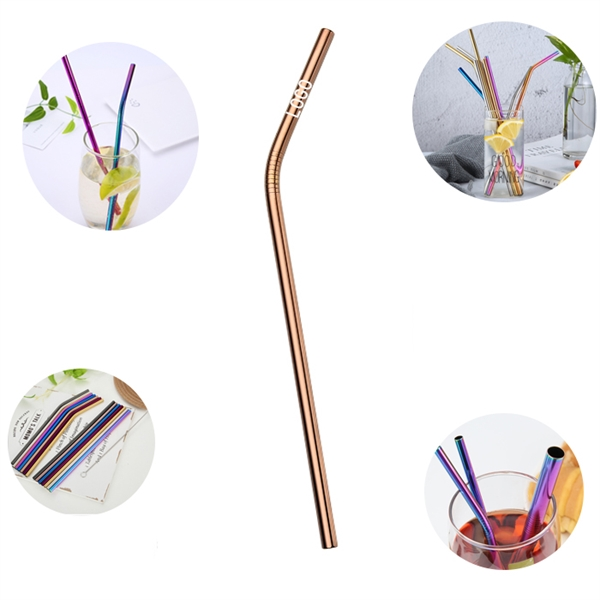 Reusable Curved Stainless Steel Straw