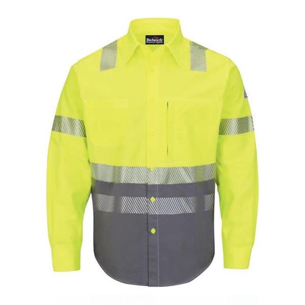 Hi-Visibility Color-Block Uniform Shirt