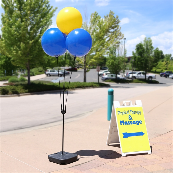 BalloonBobber® Weighted Base Triple Cluster Pole Kit