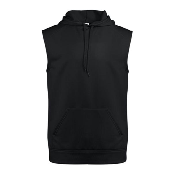 Badger Performance Fleece Sleeveless Hooded Sweatshirt