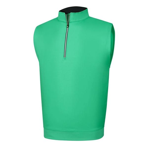 Performance Half-Zip Vest With Gathered Waist