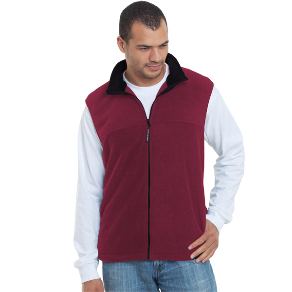 Bayside Unisex Full-Zip Polar Fleece Vest