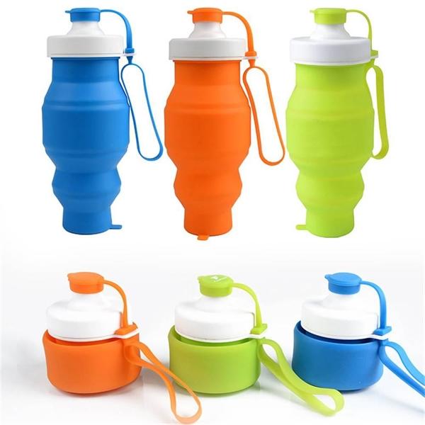 Foldable Silicone Travel Bottle 17 oz