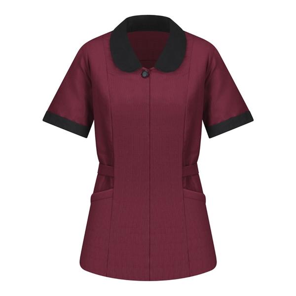 Red Kap Women's Linden Grey Shawl Collar Tunic