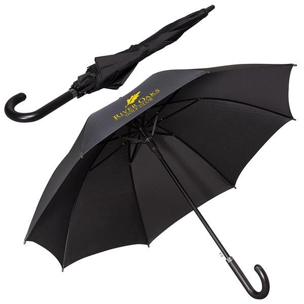 """LEEMAN™ 48"""" Executive Umbrella with Leather Handle"""