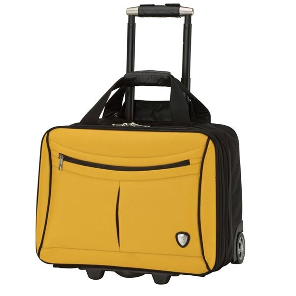 Yellow and Black Lamborghini Trolley Cas