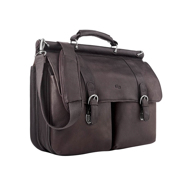 Solo® Warren Leather Briefcase