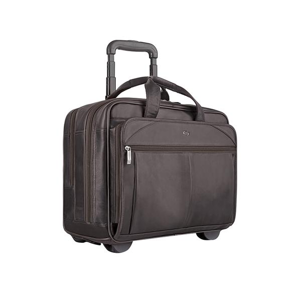 Solo® Walker Leather Rolling Case