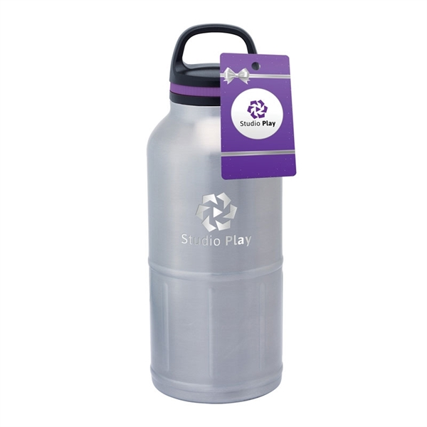 iCOOL Colossal Odin 64 oz. Stainless Steel Vacuum Water B...