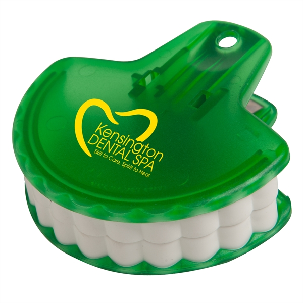Munch It™ Clip - Teeth shaped clip, tightly seals food bags.