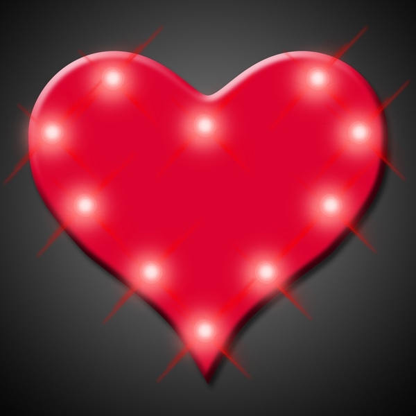 Imprinted Perfect 10 Heart Blinking Lights