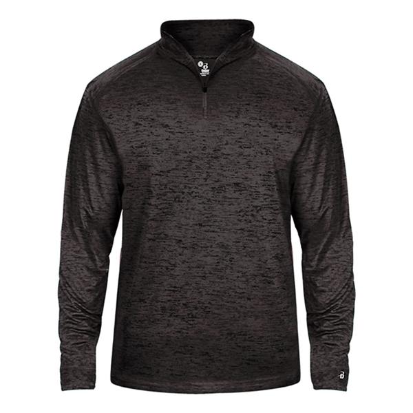Badger Youth Tonal Blend Quarter-Zip Pullover