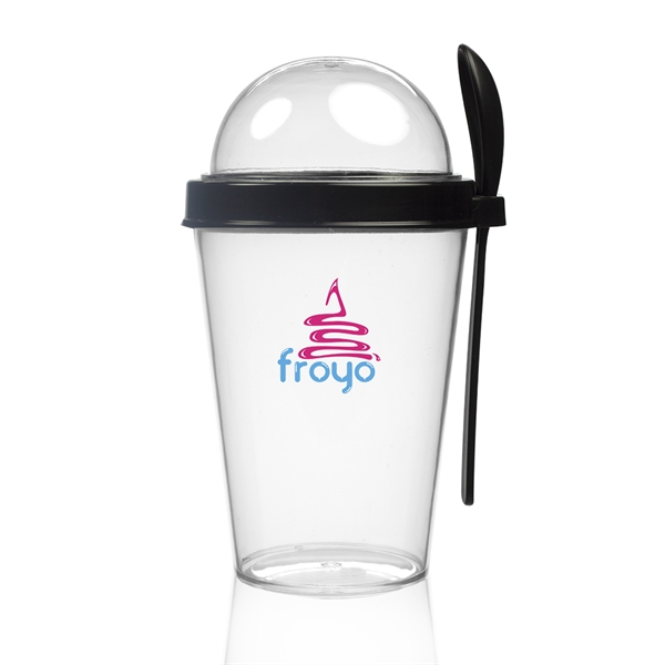 13.5 oz Snack-To-Go Cup with Lid and Spoon